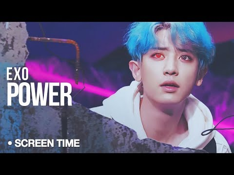 EXO - Power : Screen Time Distribution (Color Coded)