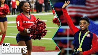 Simone Biles Crushes Texans Cheerleading Debut | TMZ Sports
