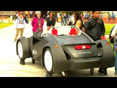 World's first 3D printed vehicle visits El Camino College