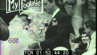 Stock Footage - 1941 SOCIETY NEWS: WEDDING OF GLORIA VANDERBILT