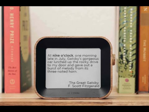 Watch the Author Clock in action, the only clock that uses quotes from books to tell the time. Available now on Kickstarter.