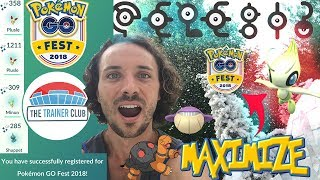 GO FEST 2018 was AMAZING! EASILY GET CELEBI, UNOWNS, SHINIES & EVENT LAYOUT - Pokemon Go Fest 2018