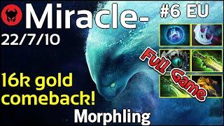 Miracle- [Liquid] plays Morphling!!! Dota 2 Full Game 7.21
