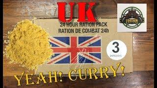 British 24 Hour Ration Pack, Menu 3 Chicken Curry ~2015~