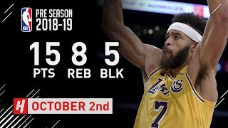 JaVale Mcgee Full Highlights Nuggets vs Lakers 2018.10.02 - 15 Pts, 8 Reb, 5 Blocks!