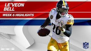 Le'Veon Bell's Big Game w/ 179 Rush Yards & 1 TD