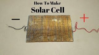 How to Make SOLAR CELL at Home _ How to Make Solar Cell With Gold Wire Free ENERGY Solar Cell