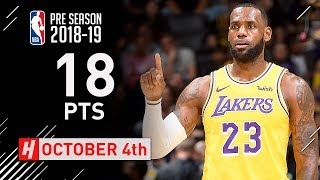 LeBron James SICK Full Highlights Lakers vs Kings 2018.10.04 - 18 Points in 1st Half!