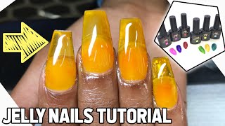 JELLY nails tutorial using gel tint | voiceover