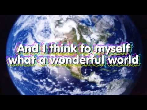 WHAT A WONDERFUL WORLD KARAOKE Louis Armstrong ...