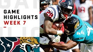 Texans vs. Jaguars Week 7 Highlights | NFL 2018