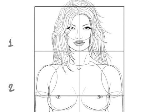 easy naked women to draw