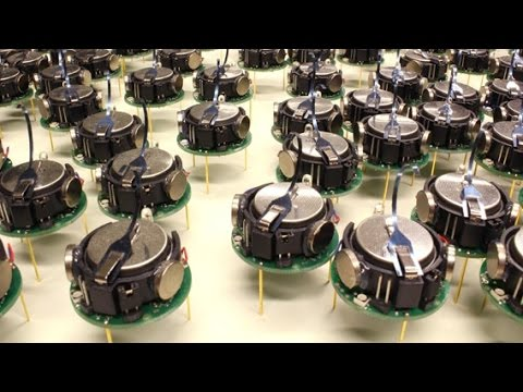 Self-assembly of thousand little robots ''Kilobots'' to form complex shapes.