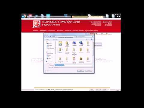 TECH400SDE RDKS Gerät Software Aktualisieren