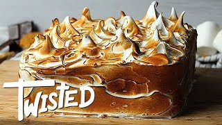 Toasted Marshmallow S'mores Cake Recipe   Homemade Cake Ideas   Dessert Recipes    Twisted