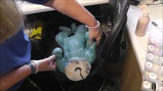 Pouring and demolding a silicone baby doll