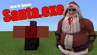 How to Spawn SANTA.EXE   Minecraft PE
