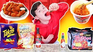 EATING ONLY SPICY FOODS FOR 24 HOURS! *IMPOSSIBLE CHALLENGE*
