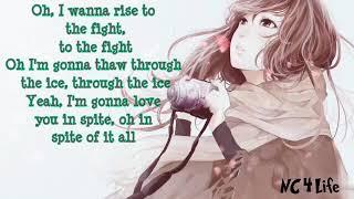 Sia - Sing For My Life ( Lyrics ) Nightcore