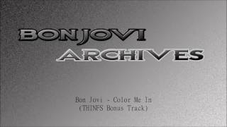Bon Jovi - NEW SONG - Color Me In (Bonus Track)