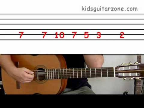 guitar lesson 2f beginner 39 seven nation army 39 on one string youtube. Black Bedroom Furniture Sets. Home Design Ideas