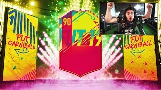 OMG I PACKED A 90 RATED CARNIBALL PLAYER!! FIFA 19