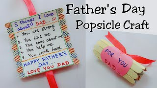 Best Gift Idea for Father's Day/Father's Day Popsicle Craft/Father's Day Gift Idea for Kids
