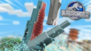FEEDING THE MOSASAUR!!! - Jurassic World Minecraft DLC   Ep2
