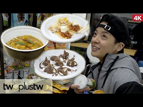Korean Convenience Store Gourmet Food Challenge feat. Amber Part 2