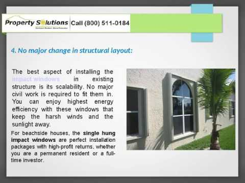 Hurricane Impact Resistant Windows and Doors