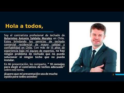 Belarmino Antonio Saldaña Morales - 10 consejos para elegir el contratista de techosadecuado