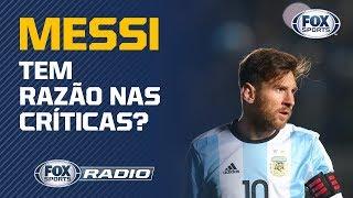 """""""NÃO TEM DESCULPINHA PARA O CRISTIANO RONALDO"""": Facincani critica Messi na Copa América"""