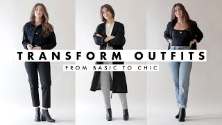How To Transform Outfits for Fall - Basic to Chic | October 2018 | Dearly Bethany