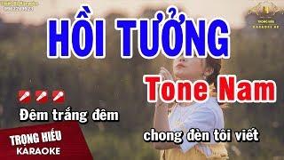 Karaoke Hồi Tưởng Tone Nam Nhạc Sống | Trọng Hiếu