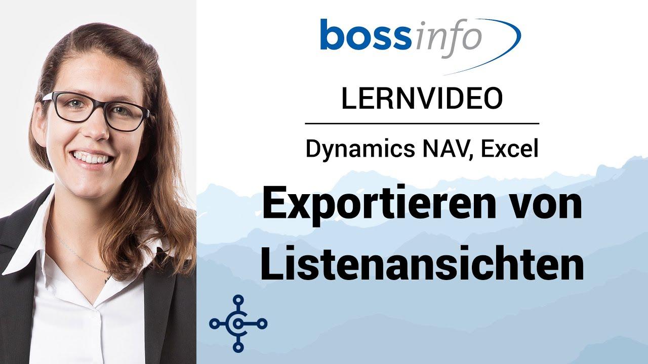 Microsoft Dynamics NAV – Lernvideo zum Exportieren von Listenansichten