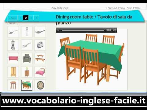 Vocabolario inglese facile a casa for Nomi di mobili