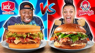 WENDY'S VS JACK IN THE BOX FOOD CHALLENGE