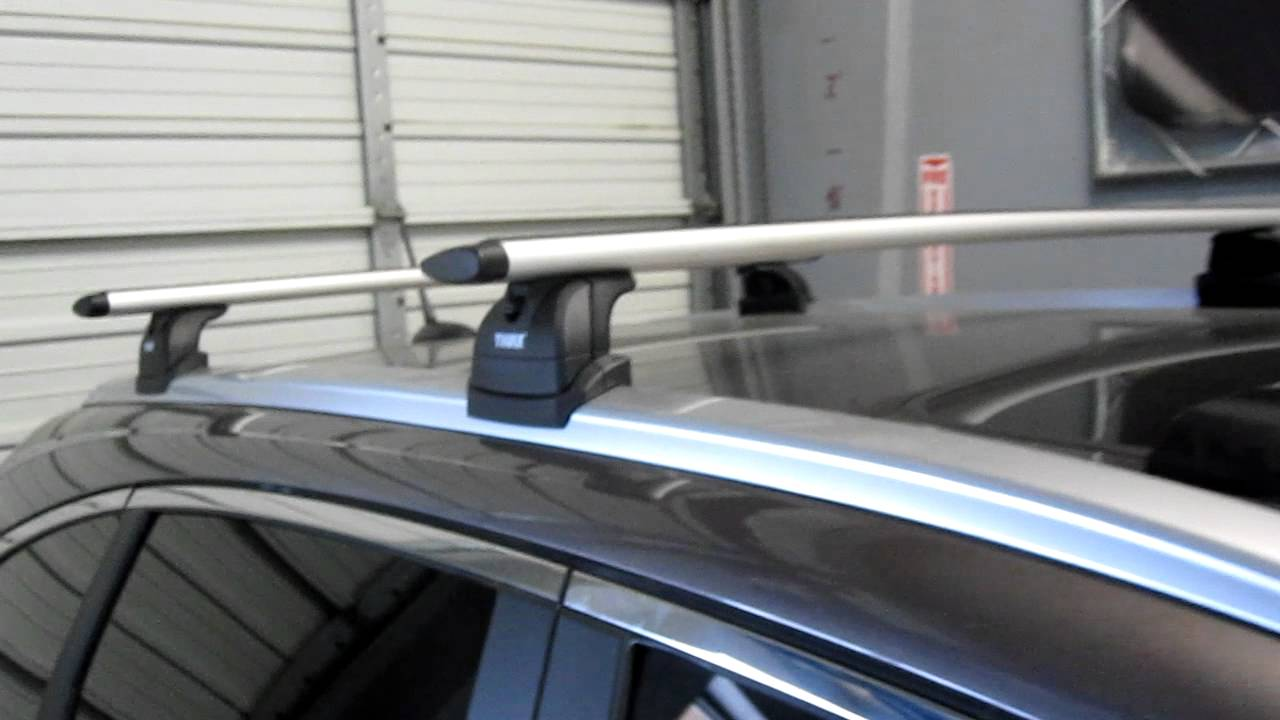 Bike Rack For Suv >> 2012 Honda CRV with Thule 460R Podium AeroBlade Roof Rack by Rack Outfitters - YouTube
