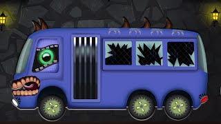 xe buýt đáng sợ   Hình thành và sử dụng   Video cho trẻ em   Childrens Vehicles   Scary Bus