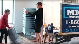 moving day 3 vlog: the moving truck comes + new furniture!