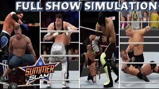 WWE 2K16 SIMULATION: SUMMERSLAM 2016 FULL SHOW HIGHLIGHTS