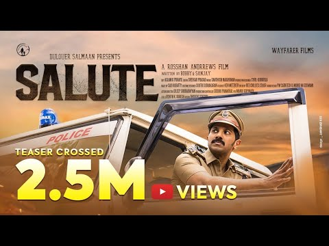 Salute teaser featuring Dulquer Salmaan, Diana Penty