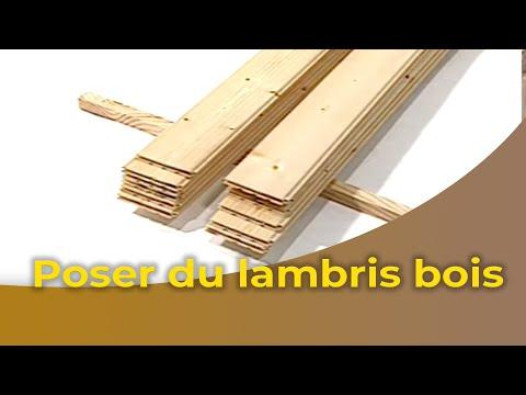 la pose d 39 un lambris bois youtube. Black Bedroom Furniture Sets. Home Design Ideas