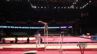 CHUSOVITINA Oksana (UZB) - 2015 Artistic Worlds - Qualifications Uneven Bars