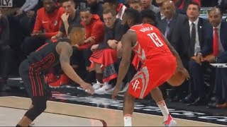 James Harden Shows Damian Lillard He Can't Be Guarded Even When Being Double Teamed!