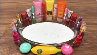 Mixing Makeup Into Glossy Slime - Will It Brown?   Most Satisfying Slime Video #1  Boom Slime