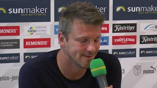 Pressekonferenz: FC Carl Zeiss Jena - SV Waldhof