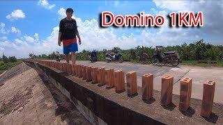 NTN - 4K Thử Xếp Gạch Domino Dài 1KM (Making 1km domino from brick)