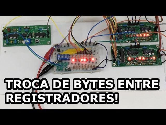 COMO OS REGISTRADORES TROCAM BYTES ENTRE SI? | Computador de 8 bits em PCBs