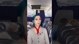 POV: you're stuck next to this lady on a flight 😐